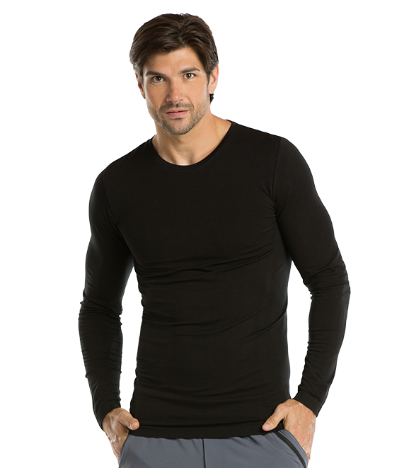 L/S MALE KNITTED SEAMLESS TEE product photo
