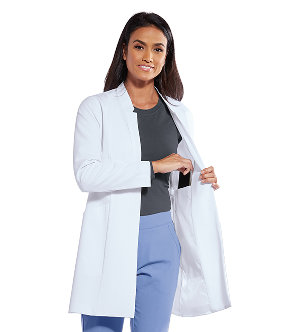 W3PKT LINED BK VENT LAB COAT product photo