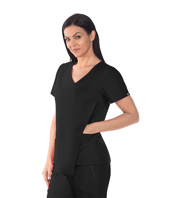 3PKT ASYM FRONT DRAPE TOP product photo
