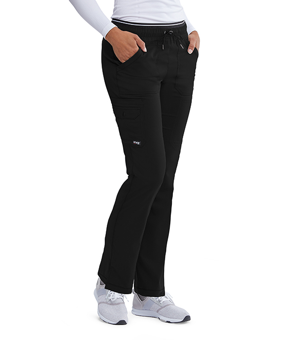 6PKT BK EMB ELASTIC CARGO PANT product photo